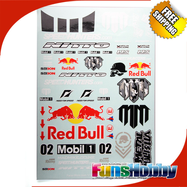 FACEWORX Faceworx Red of Bull   MadMike Formula Drift Decals Set FWD044