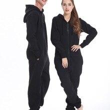 Nordic Way Fashion One Piece Jumpsuit Hoodies Fleece Unisex Women Men Romper Adu
