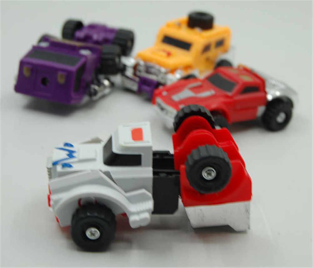 Mini Model Kendaraan Mobil Kartun Rusia Hadiah Terbaik untuk Koleksi Rusia Blaze Pick Zeng Racin Deformasi Panjang Kaki Mobil