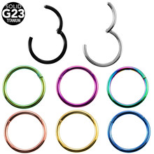 1PC G23 Titanium Hinged Segment Ring Nose Ring Piercing Nipple Ear Septum Tragus Cartilage Clicker Lip Body Jewelry 14G 16G(China)
