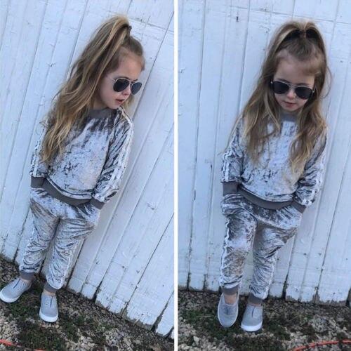 Toddler Baby Girl Outfit Clothes Top Romper Jumpsuit Bodysuit Pants Leggings Set