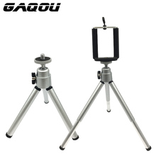 GAQOU Portable Mini Tripod For Phone iPhone Samsung With Mobile Phone Holder Stand  Flexible Tripod For Gopro Camera Bracket