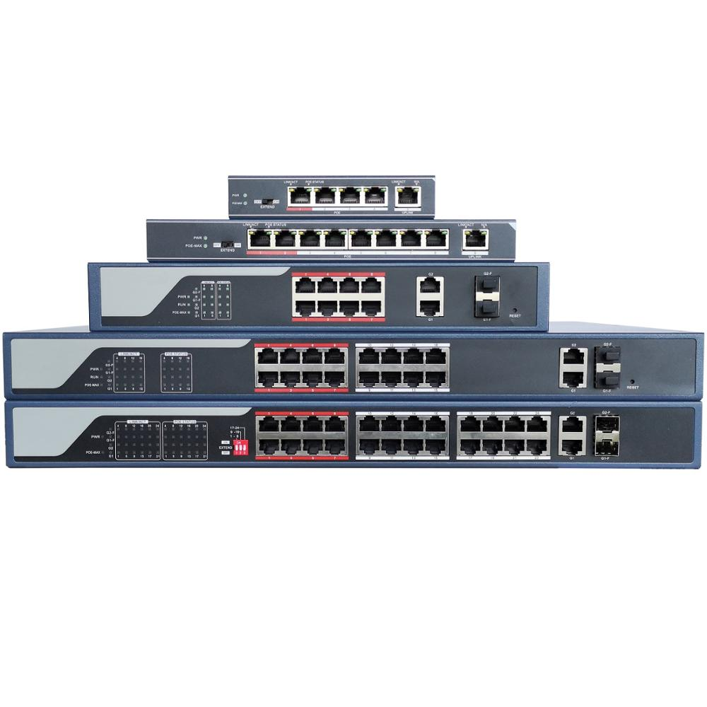 HIK With Logo 4CH 8CH 16CH 24CH POE Network Switch, POE LAN Swtich, DS-3E0105P-E DS-3E0109P-E DS-3E0318P-E DS-3E0326P-E