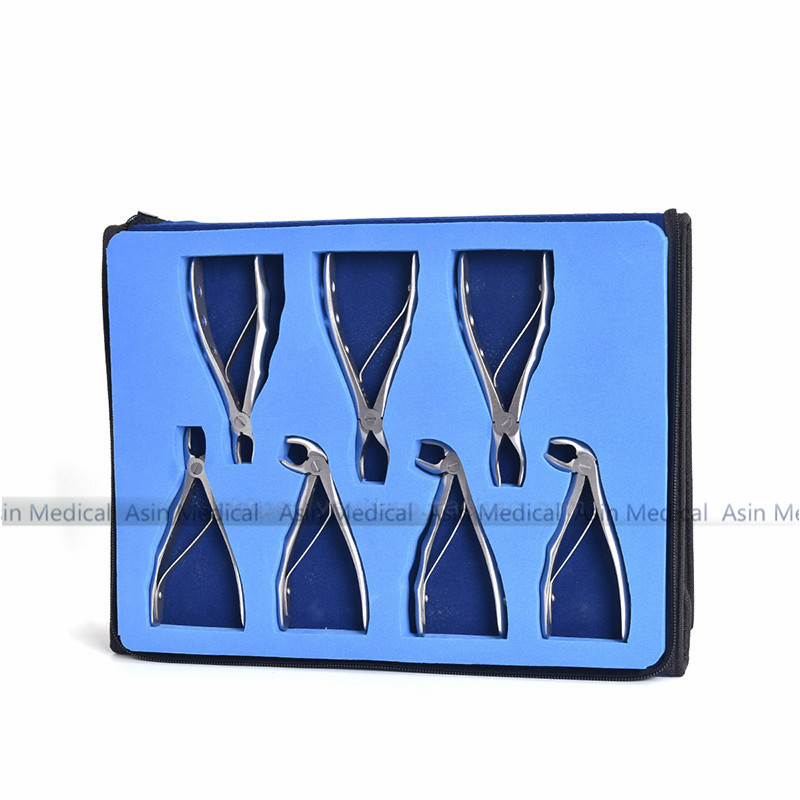 2018 high quality Children's tooth forceps set Stainless Steel Extraction Pliers Set dental tools dentist tools good quality 10 pcs set tooth extracting forceps pliers with toolkit dental surgical extraction instruments
