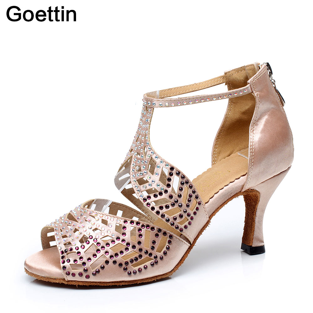 Brand Goettin Latin Dance Shoes Kvinner Latin Dance Shoes Salsa Party Shoes 7014