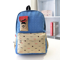 Fashion Korean Style Women Backpack Lovely Candy Color Famous Brand Beard School Bag For Women Casual