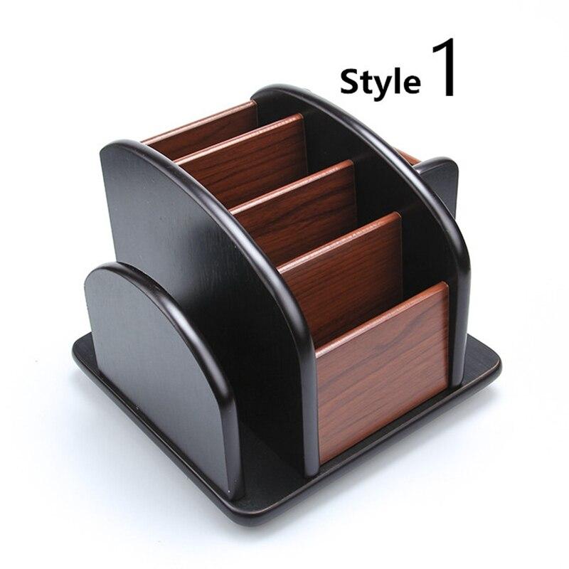 High Quality Dest Set Wooden Office Supply High Quality Office Desk  Accessories Wooden Office Organizer 8