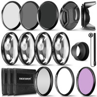 Neewer 58MM Complete Lens Filter Accessory Kit for 58MM Filter Size Lenses:UV CPL FLD Filter Set+Macro Close Up Set+ND Filter