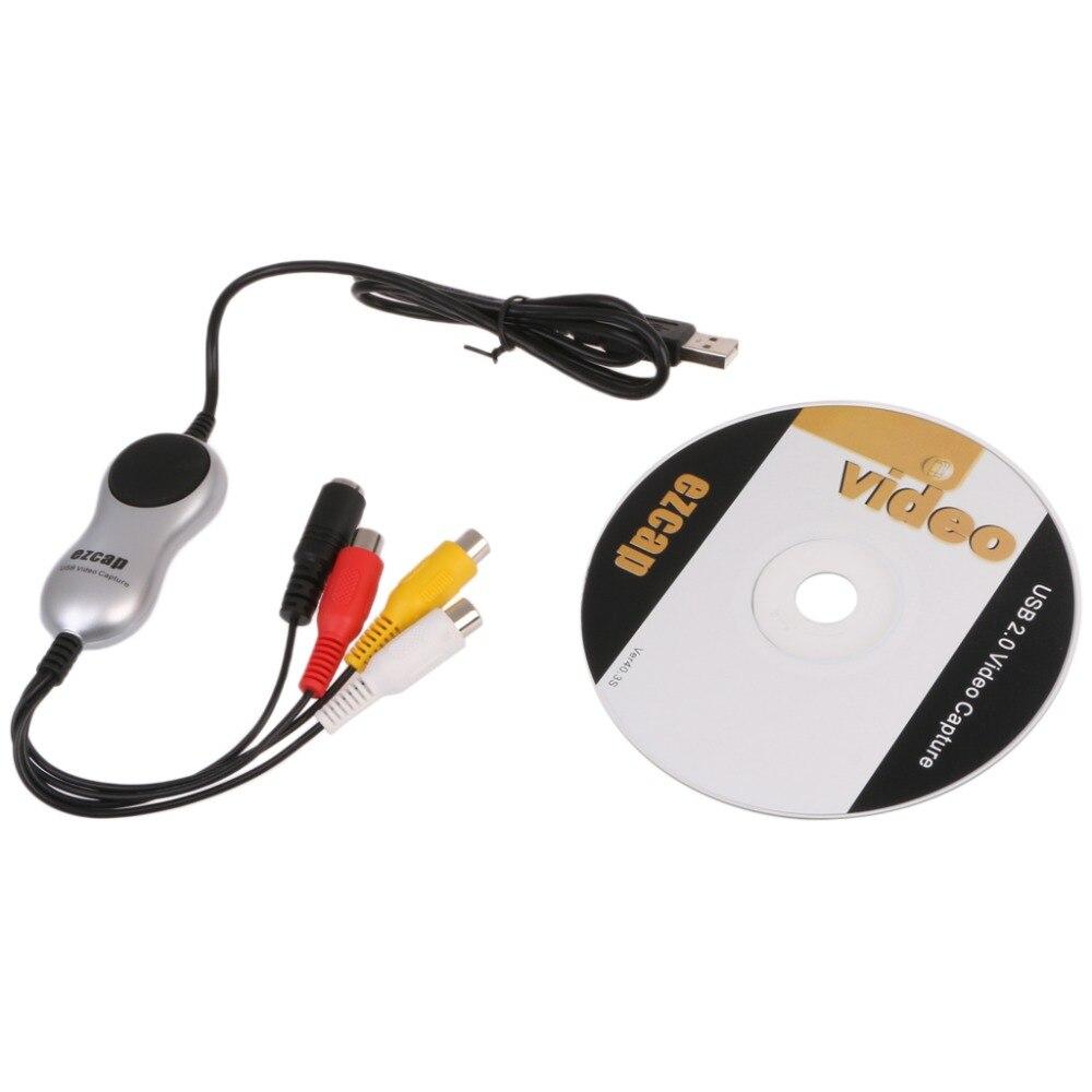 USB 2.0 RCA Composito S-Video TV VHS DVD 8mm Audio Video Converter Per Win 8/10