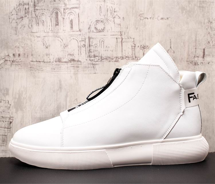 ERRFC Luxury Men's Gold Leisure Shoes Fashion Designer High Top Zip Man Casual Comfort Shoes For Show White Vogue Party Shoes 43 6
