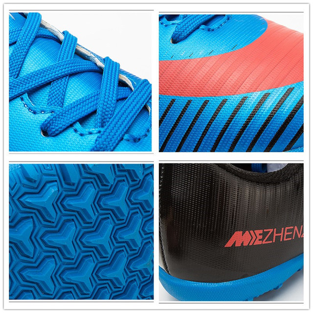 2beed2b5cf6a Professional Men Turf Indoor Soccer Shoes Cleats Kids Original Superfly  futsal Football Boots Sneakers chaussure de foot