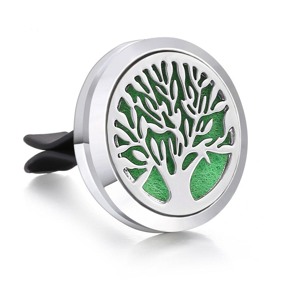 Ароматический диффузор ожерелье открытый медальон Подвеска для ароматерапии диффузор эфирного масла автомобильный освежитель воздуха автомобильный парфюмерный диффузор зажим - Окраска металла: 30