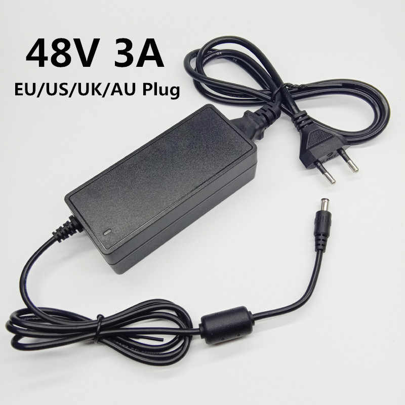 48V 3A switching adaptor AC DC adapter 48 V 48 volt 3000mA universal power adapter Power Supply Converter EU US UK AU plug