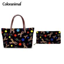 Coloranimal Neoprene Top-handle Bag Women Set Tote