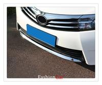 For Toyota Corolla SEDAN 2014 2015 2016 Abs Chrome 1pcs Front Rear Bumper Strip Trim Car