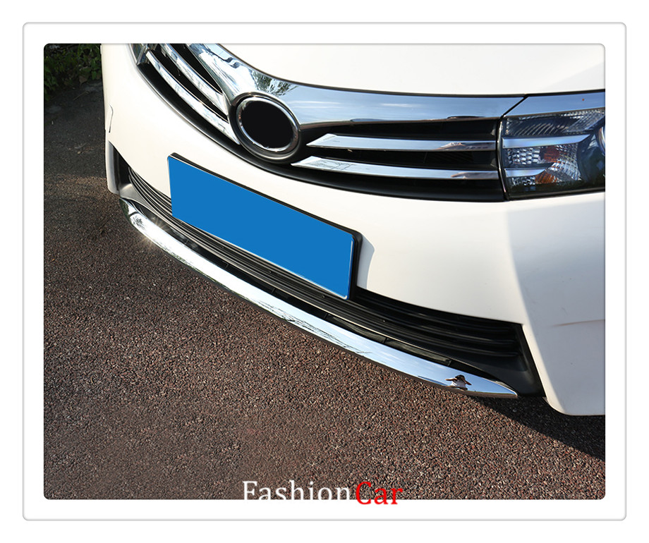 For Toyota Corolla SEDAN 2014 2015 2016 abs chrome 1pcs Front bumper strip trim car-styling