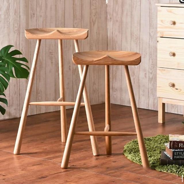 Hot Fashion Hocker, 100% Holz Barhocker, Die Nordischen Stil Der Nature,  Holz
