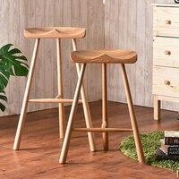 Sıcak moda dışkı, 100% ahşap bar taburesi, İskandinav tarzı of nature, ahşap mobilya, el yapımı dışkı 65 cm/75 cm bar sandalyesi