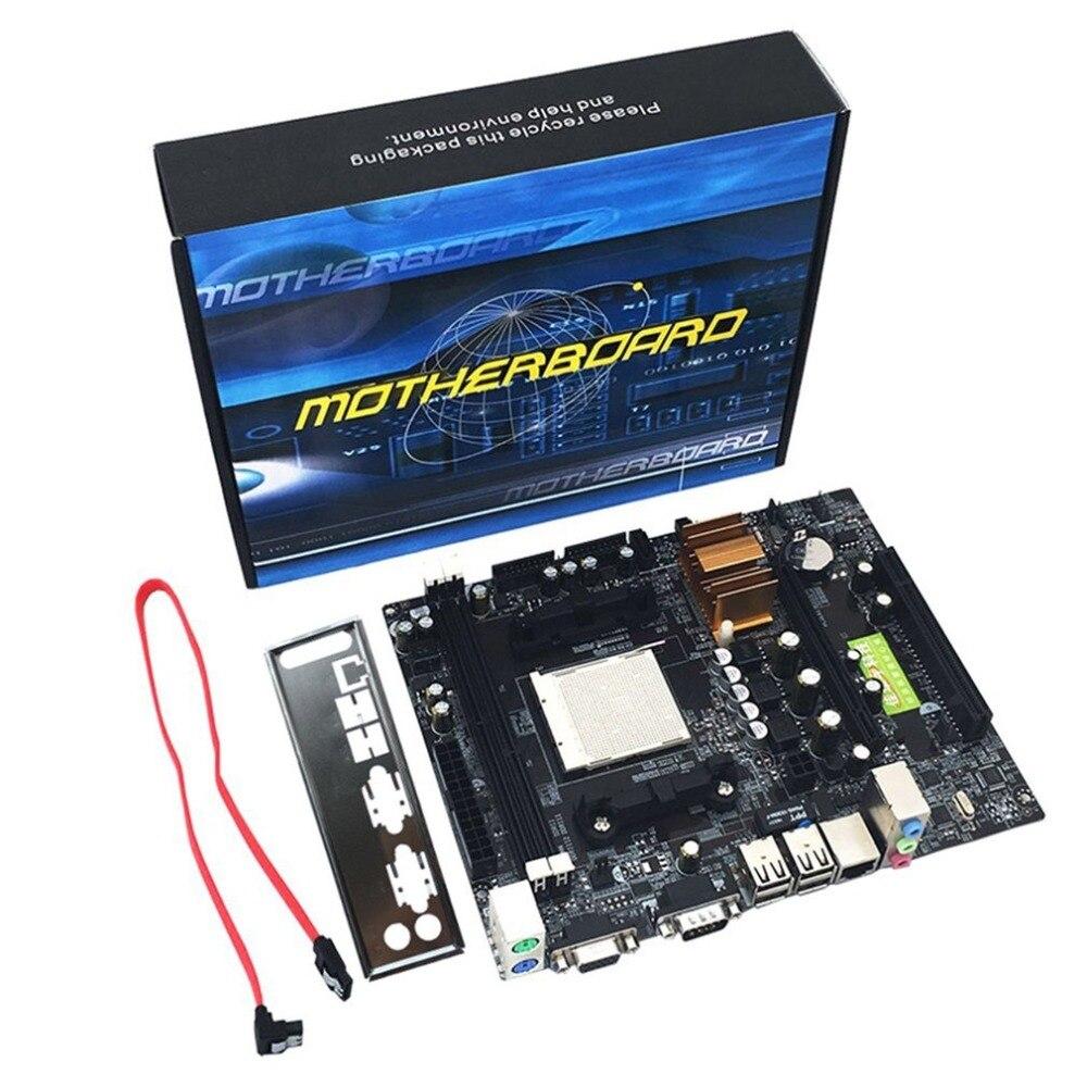 (Le bateau De RU) carte mère AM2 pour AM3 CPU DDR2 + DDR3 Mémoire Carte Mère Avec 4 SATA2 Ports Ordinateur De Bureau