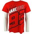 Motocicleta motocross camiseta ocasional marc marquez 93 negro la hormiga ropa moto gp camiseta roja nueva temporada