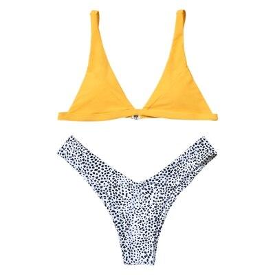 Swimwear Bikinis Women 2018 New Sexy High Cut Leopard Bikini Set Swimwear Female Bathing Suit Swimsuit Female Beachwear With Pad