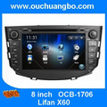 Car DVD audio gps stereo radio for Lifan X60 support Spanish BT phonebook media player free 2015 Russia map