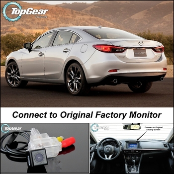 Car Camera Connect to Original Factory Screen / Monitor For Mazda 6 M6 Atenza GJ 2013 Up High Quality Rear View Back Up Camera