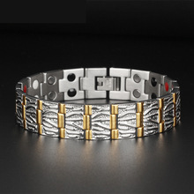 все цены на Titanium Germanium Magnet Anti-fatigue Radiation Bracelet Domineering Walnut Grain Men's Titanium Steel Stainless Steel Jewelry