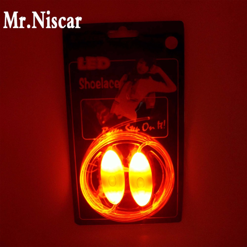 Mr.Niscar 1 Pair Pink LED Shoelaces Luminous Flashing Light Shoe Laces Strings Disco Party LED Lace Shoes Light Up Glow Shoelace 8 color led luminous shoes unisex glow shoe men women fashion lover tide leather recharge usb light shoes