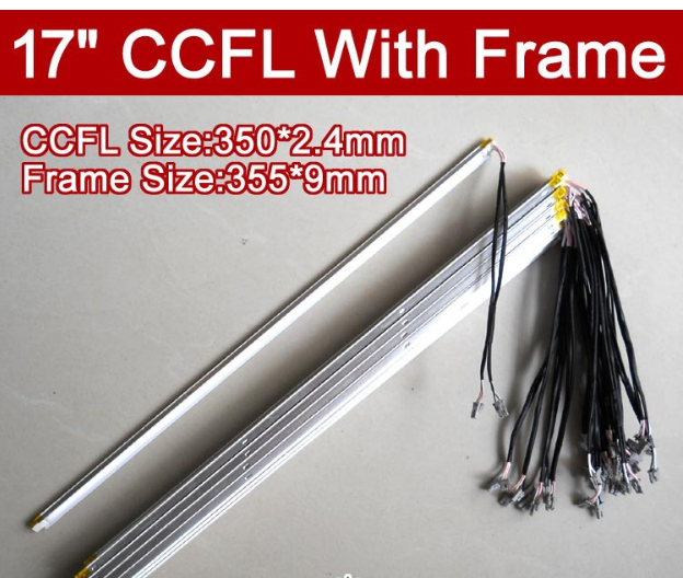 4PCS 17'' Inch Dual Lamps CCFL With Frame,LCD Monitor Lamp Backlight With Housing,CCFL With Cover,CCFL:350mm,FRAME:355mm X9mm