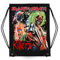 Fashion Backpack Bag Cotton Iron Maiden Killers Animal 3D Printing Travel Softback Man Women Drawstring Bag Mutifunction Backbag