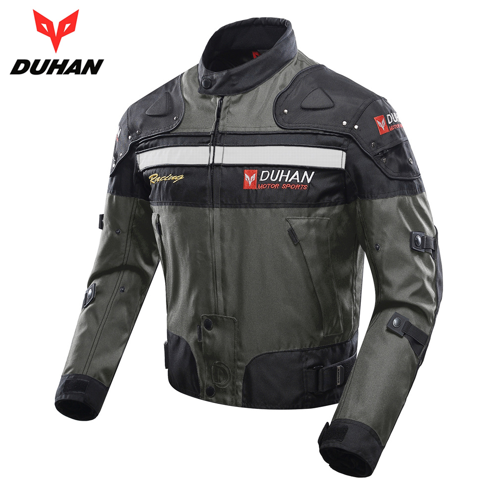 DUHAN Autumn Winter Men's Motorbike Moto Jacket Windproof Cold-proof Motorcycle Jacket Protective Gear Motocross Jacket Clothing duhan motorcycle jacket motocross jacket moto men windproof cold proof clothing motorbike protective gear for winter autumn