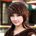 Milo visón sombrero de los ancianos sombrero femenino del otoño y el invierno tapa térmica sombrero de piel de marta hilo de terciopelo