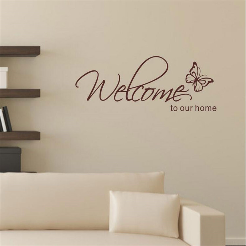 Buy stickers muraux home decor 39 welcome for International home decor stores
