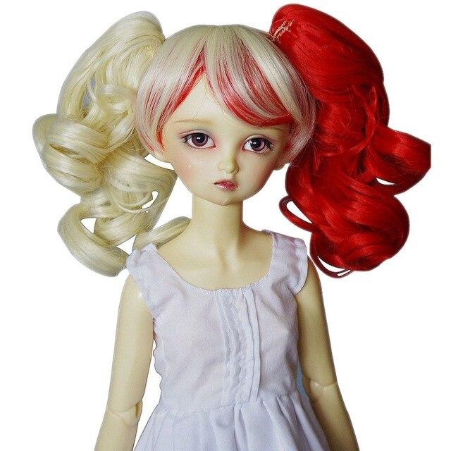 [Wamami] 97 # милый красный и желтый парик для 1/3 SD DZ DOD БЖД с зажим для волос