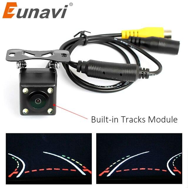 Eunavi مساعد مواقف السيارات مسارات مسار ذكي كاميرا الرؤية الخلفية عكس الكاميرا الاحتياطية مع خط وقوف السيارات المتغير