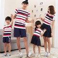 Оптовая Корейская семья одежда новый короткий рукав Футболки Семья установлены Папа Сын дочь футболка мать сын наряды