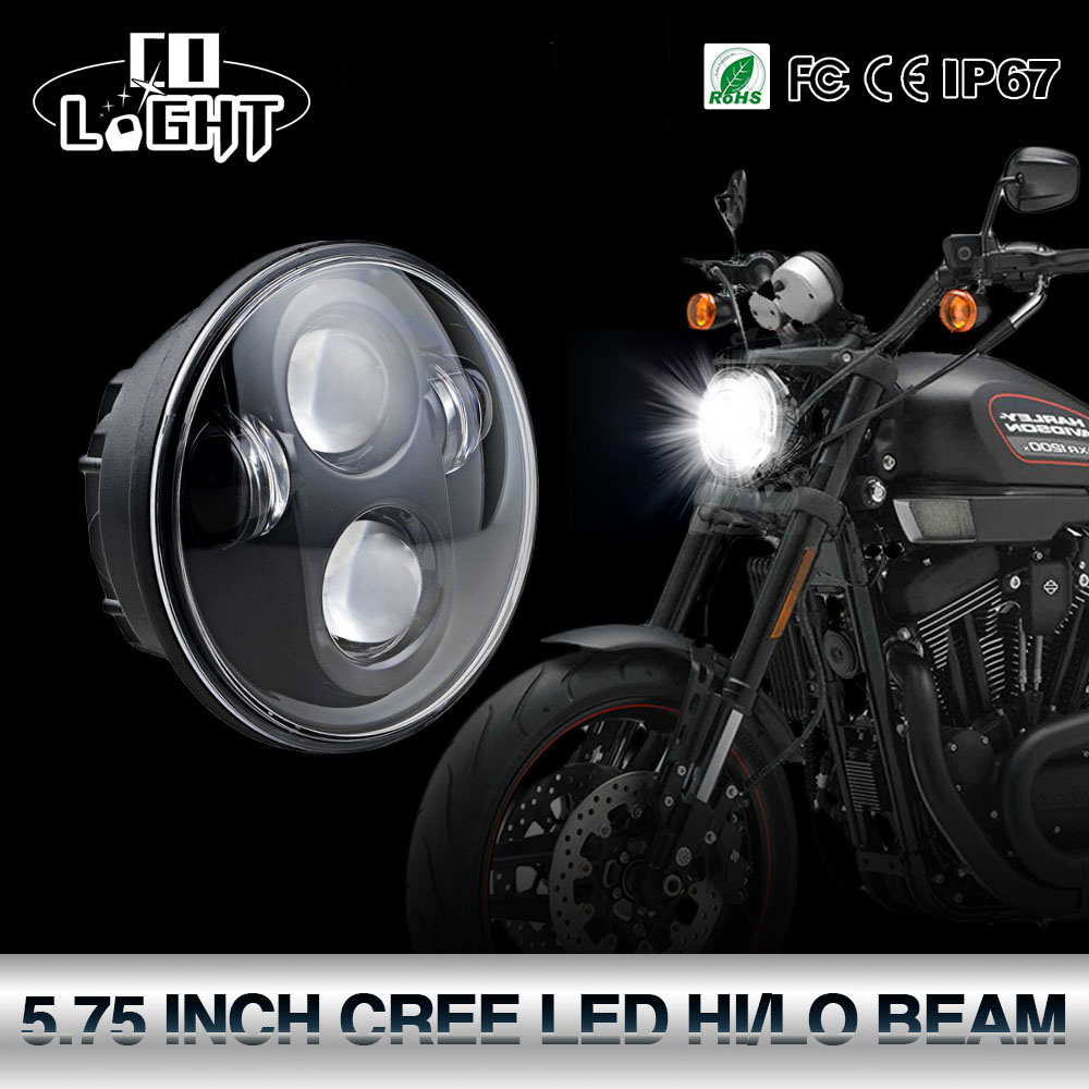 CO LIGHT 5.75Inch Led Headlights 6000K 40W 20W Motorcycle Projector High Low Beam for Motorcycles Harley Headlight Niva 12V 24V