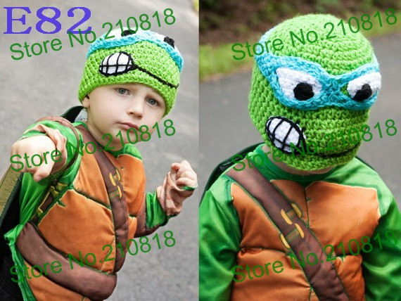 fae40984451 20pcs lot Crochet Baby TMNT Hat Hand made Cute Animal Baby Hat