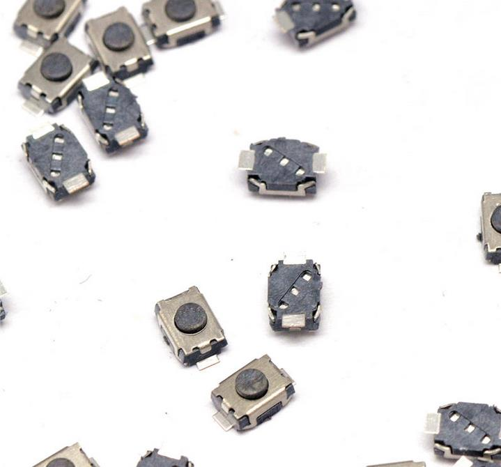 20PCS/lot Button micro switch 3x4mm SMD 2 Pin key for electronics kit free shipping cltgxdd aj 131 micro switch 3 5 3 1 8 for citroen c1 c2 c3 c4 c5 c6 c8 remote key fob repair switch micro button