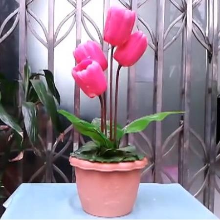 La tulipe vivante scène fleur tours de magie scène accessoires de magie jouets classiques Illusion fête astuce amusant Super effet jouets magiques