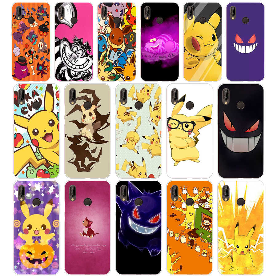 108SD Pokemons Go Gengar Sinister Soft Silicone Tpu Cover Case for  Honor 10 huawei p mate 10 20 lite y5 y6 prime 2018