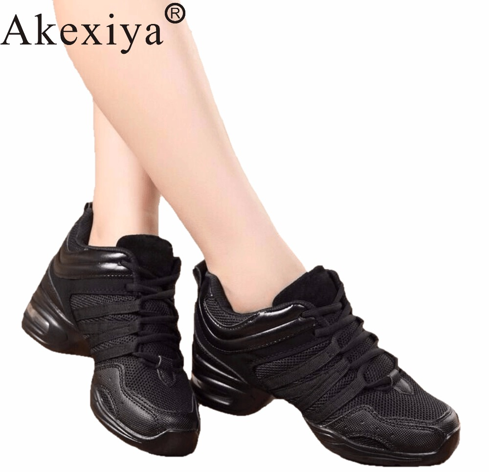 Akexiya Women Black Red Gold White Dance Shoes Women Jazz Hip Hop Shoes Sneakers For Woman Platform Dancing Ladies Fitness Shoes