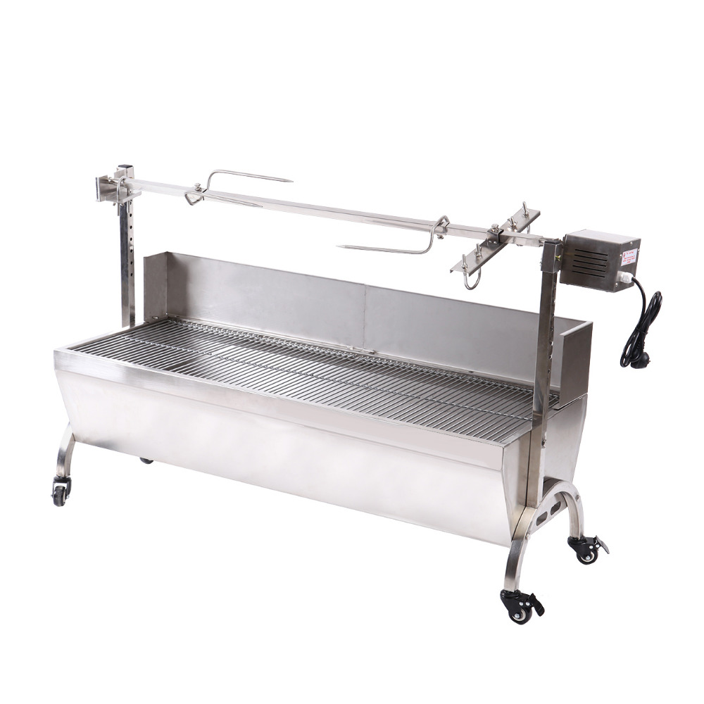 Electric barbecue Stove barbecue lamb BBQ stainless steel charcoal barbecue skewer rotisserie mastering barbecue