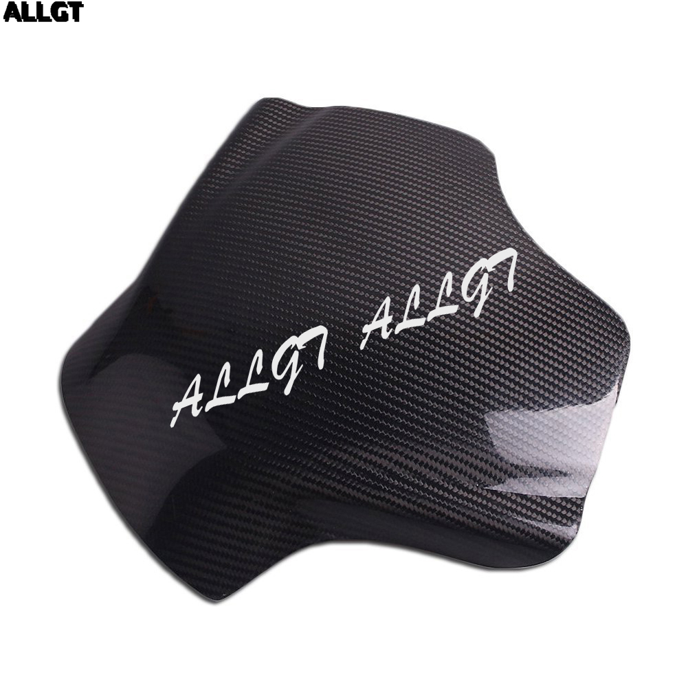 ALLGT New Carbon Fiber Fuel Gas Tank Cover Protector For Yamaha YZF R6 2008 2009 2010-2015 yandex w205 amg style carbon fiber rear spoiler for benz w205 c200 c250 c300 c350 4door 2015 2016 2017