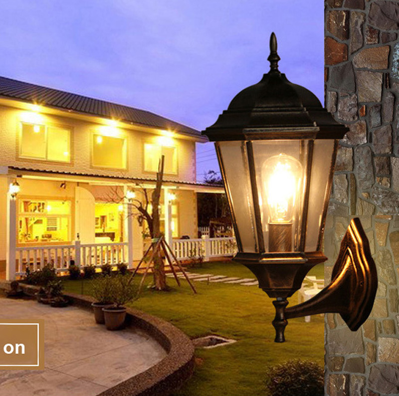 The balcony lamp European Garden aisle wall lamp outdoor wall lamp luxury villa courtyard lamp background wall waterproof wall the ivory white european super suction wall mounted gate unique smoke door