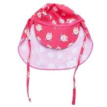 Дети Мальчики и девочки Защита от солнца спортивный лоскут плавать шляпа УФ лоскут(розовый)#8