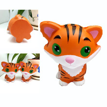 Squishy Animal Cute Tiger Antistress Squishes Squeeze Toy Smooshy Mushy Squishy Toy Slime Soft Slow Rising Phone Straps(China)
