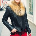2014 spring and Autumn Faux Leather Jacket Women Short Design Plus Size Slim Style Jackets