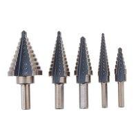 Free Shipping 5Pcs Cobalt Multiple Hole 50 Sizes Step Drill High Speed Steel HSS Bit Set